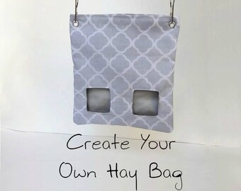 Custom Hay Bag Pouch - For Guinea Pigs, Hedgehogs, Rabbits, and more!