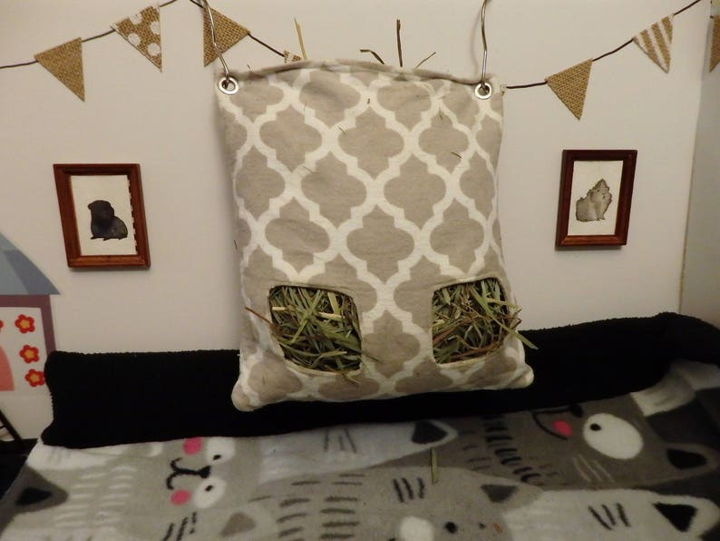 Rabbits For Guinea Pigs and more! Hedgehogs Custom Hay Bag Pouch