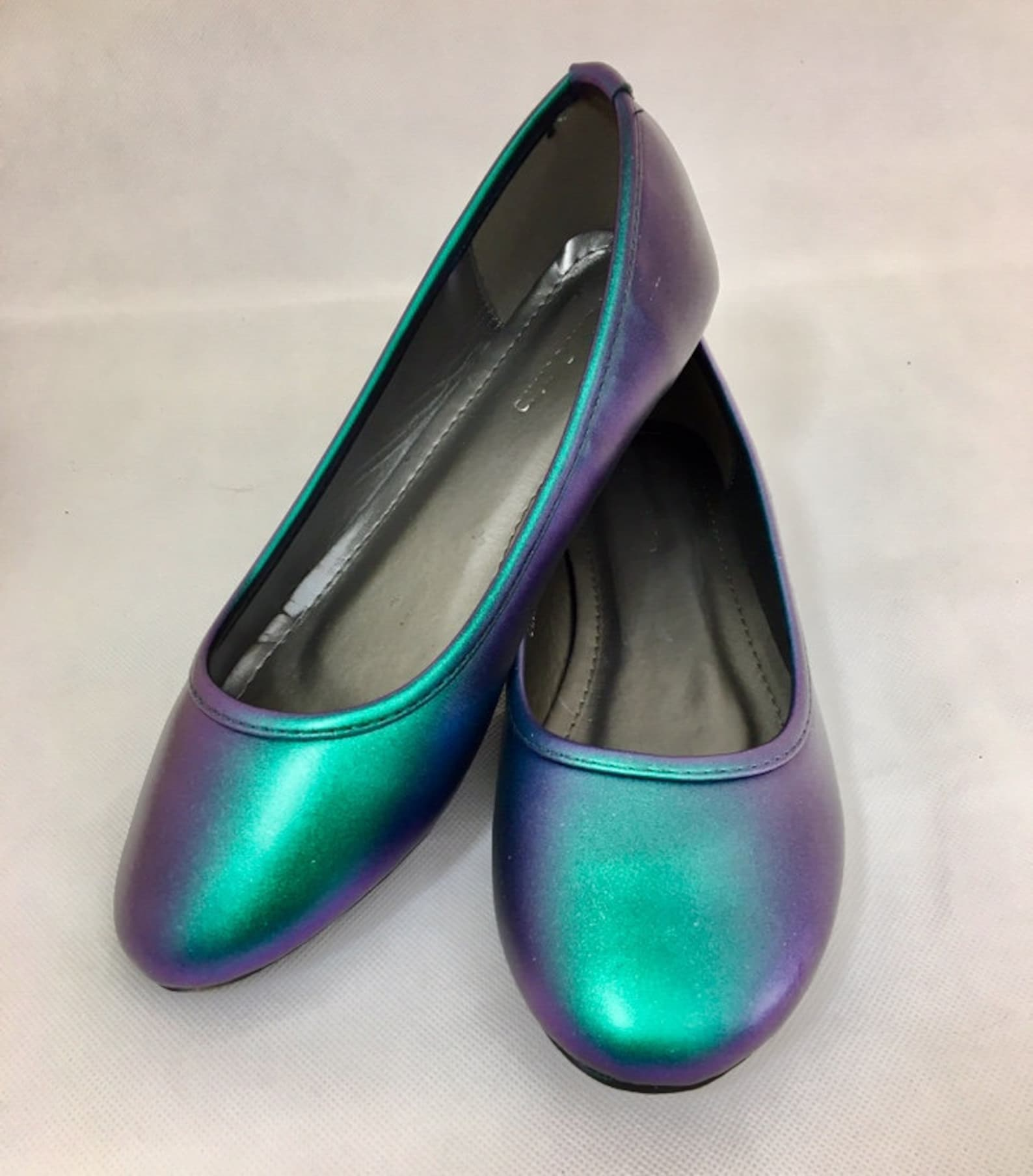 mermaid colour change ballet flats