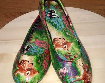 Custom made bambi ballet flats