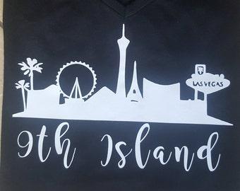 9th Island T-Shirt Las Vegas Strip Hawaii Ninth Island