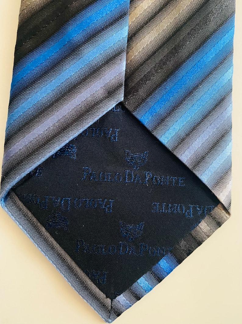 Paolo da Ponte 80s vintage tie silk