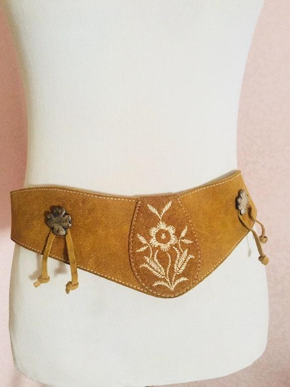 Gassner, vintage belt, leather, 70s, woman