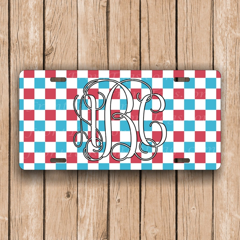 Patriotic USA Personalized Monogrammed License Plate Car Tag Initials Custom New