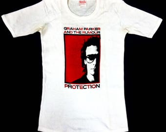 3142d6be3c2 VINTAGE 70s 1978 GRAHAM PARKER and the rumour punk rock new wave tour t  shirt