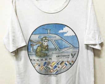 03d5491f75 VINTAGE 1990 POWELL PERALTA bones brigade skateboard t shirt punk rock rare!