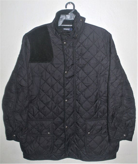 a8f602c84 VINTAGE RALPH LAUREN polo quilted barn jacket fleece lining