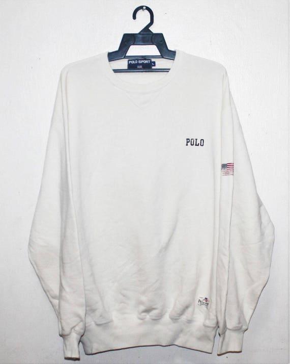 VINTAGE RALPH LAUREN polo sport usa flag sweater s