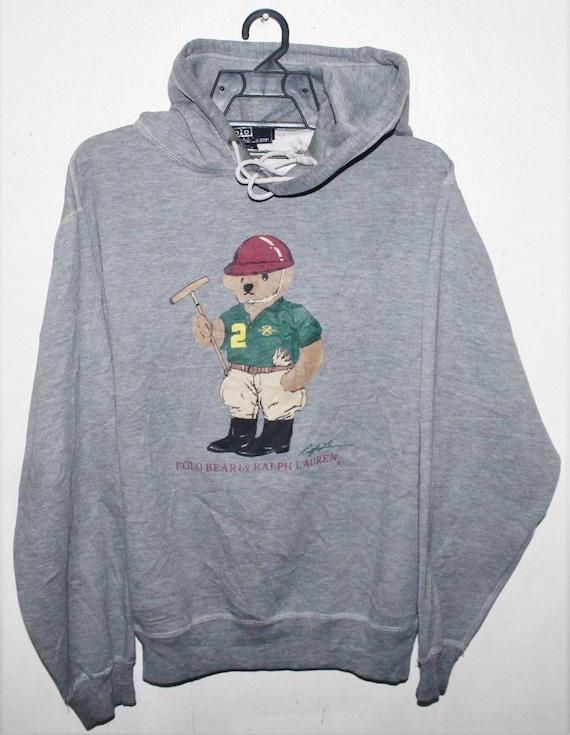 VINTAGE RALPH LAUREN polo bear hoodie sweater swea