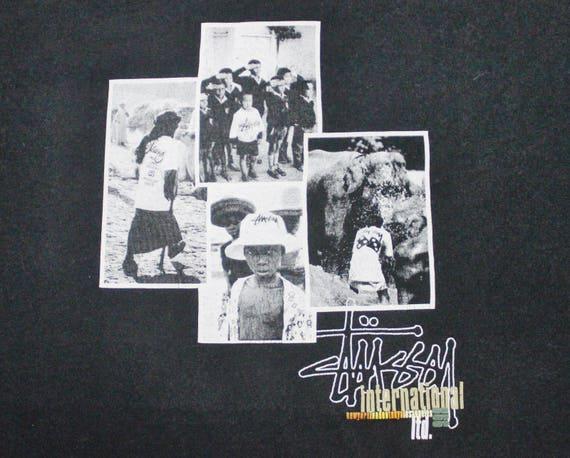 shirt t rock international photo STUSSY skate hip punk 80s print OG VINTAGE hop zxPfq7I