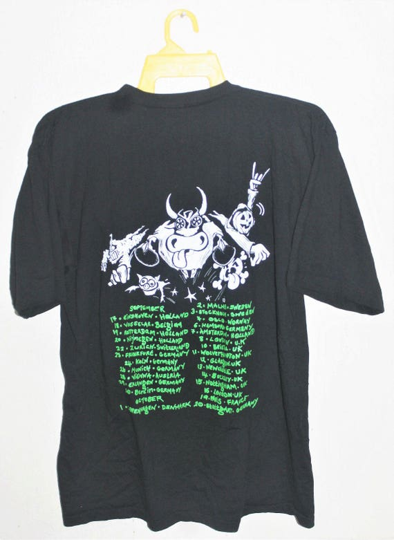 VINTAGE JELLY punk metal shirt rock GREEN promo concert tour 1993 t 4rw6q4pB