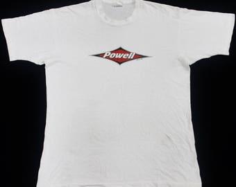 VINTAGE 90s POWELL PERALTA longboard skate skateboard punk rock hardcore t shirt