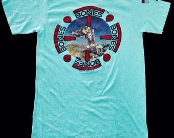 VINTAGE 80s 1988 POWELL PERALTA bones mike mcgill skate skateboard t shirt
