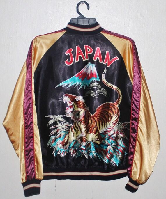Jacket Vintage Printed Dead Bomber Sukajan Tiger Blue Souvenirs Japan 1RwqOZ