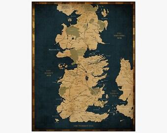 Westeros Map Etsy