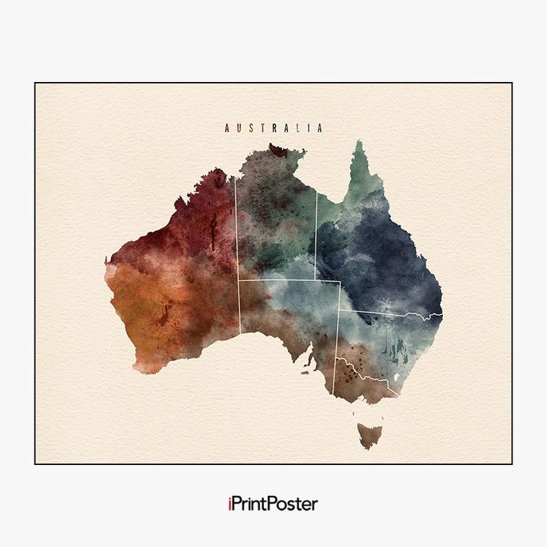 Australia Map Art.Australia Map Poster Australia Map Print Australia Map Art Iprintposter