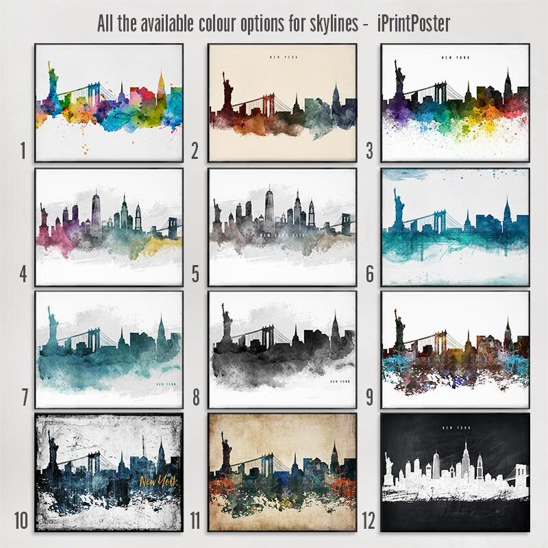 Dallas skyline print, Dallas wall art, Dallas poster - iPrintPoster
