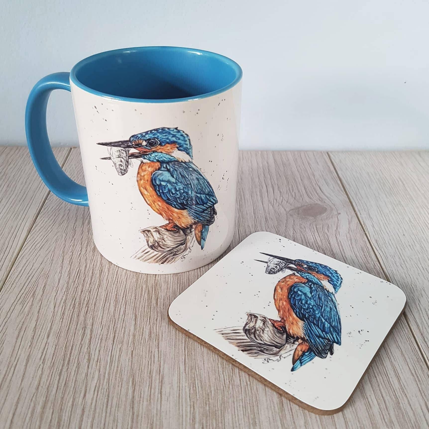 My Water colour bird print on mug