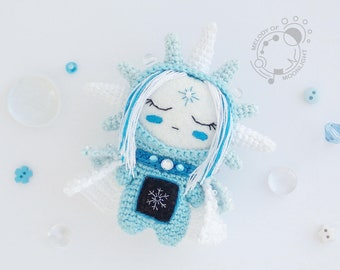 January aka Icy Cold, the Space Traveller - handmade crocheted amigurumi plushie (MADE TO ORDER)