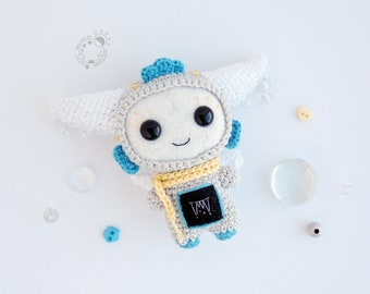 MADE TO ORDER - Spring Drops, March - The Space Travellers Months - handmade amigurumi plush tiny cutie