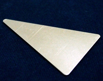 10 pcs 33x50 mm Brass Triangle Imperforate Silver Color