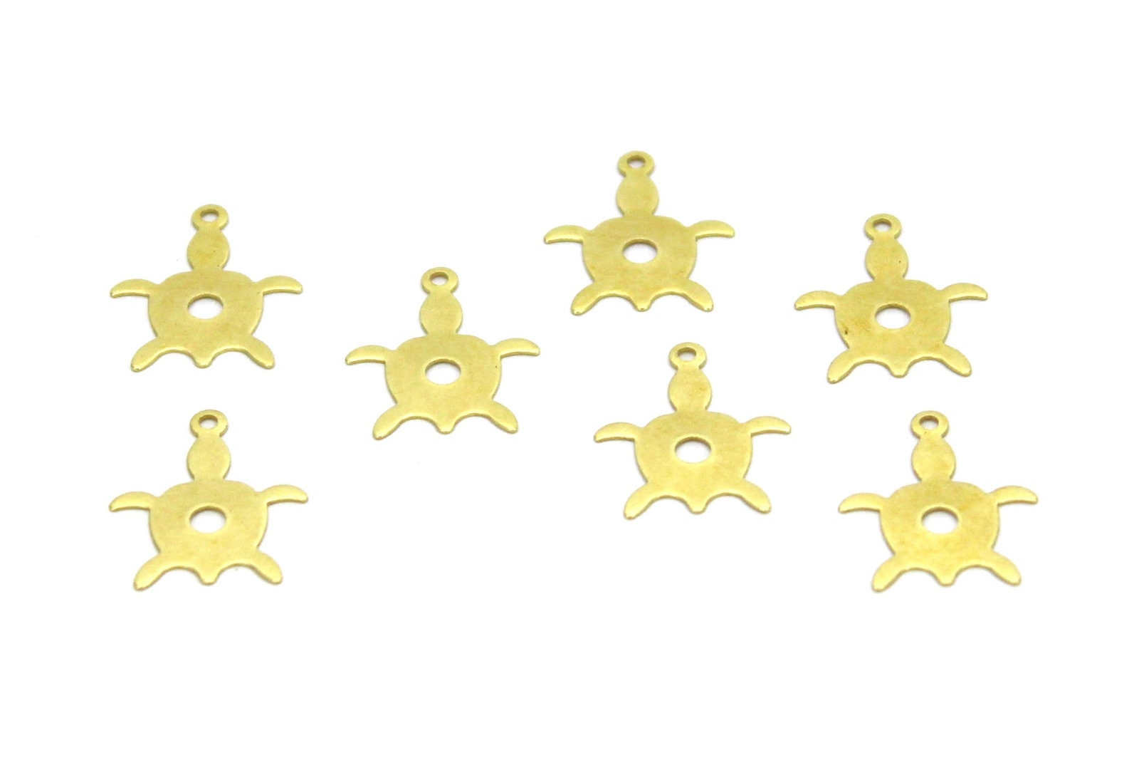Findings Raw Brass 13x16 mm Turtle Charms Turtle Turtle pendant Raw Brass Turtle Raw Brass Findings Turtle charms