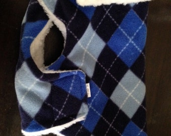 Small Mac Jac Dog Coat Blue Argyle Plaid