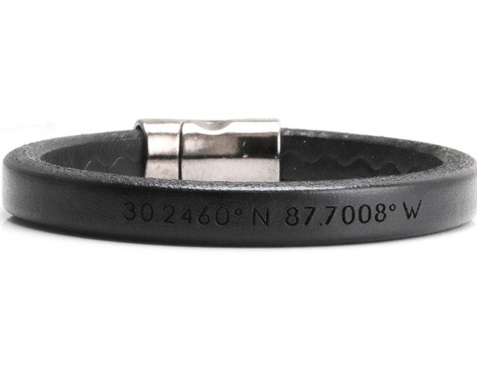 Gps Bracelets for Men, Coordinates Bracelet For Men, Graduation Gift For Son, Long Distance, Custom Coordinates Bracelet, Graduation Gift