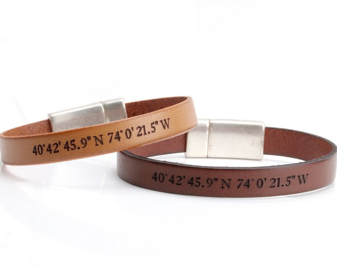 Coordinates Bracelets for Couple