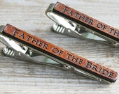 Tie Clips for Father of the Bride, Tie Clip for Father of the Groom, Father of the Bride Gift, Brides Gift to Dad, Gift from Bride to Dad