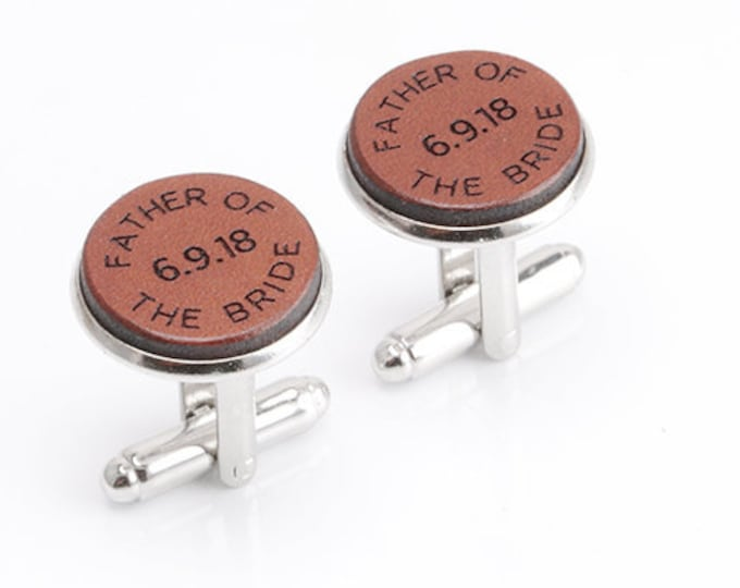 Father of the Bride Cufflinks, Father of the Bride Gift, Gift from Bride, Father of the Bride gift from Daughter, Personalized Wedding Gift