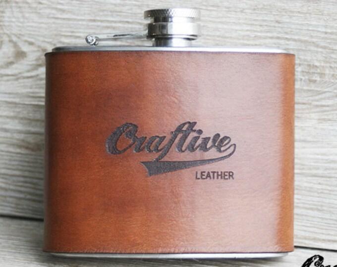 Custom Logo, Company Logo Gift, Business Logo, Logo Hip Flask, Gift for Husband, Gift for Him, Husband Anniversary Gift, Gift for Men