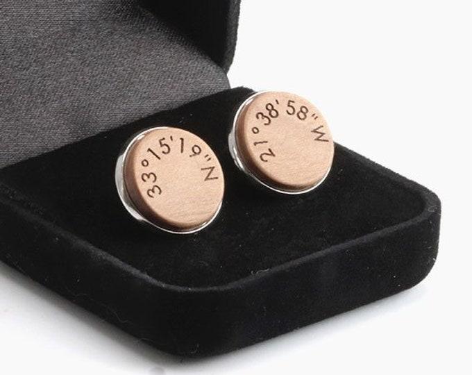 Coordinates Cufflinks, Coordinates Jewelry, Location Coordinates, GPS Coordinates Gift.Address Coordinates, Engraved Coordinates