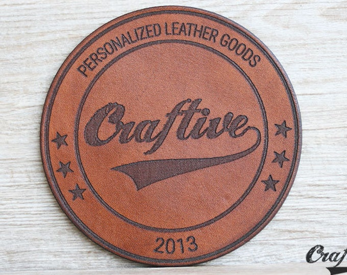 Logo Branding Coasters, Custom Logo Leather coasters, Wholesale Coasters, Bulk Order Costers