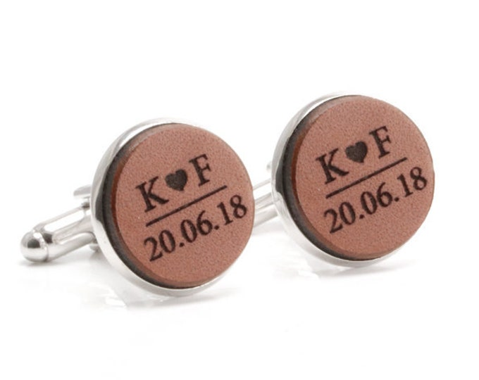 Wedding Cufflinks, Gift from Bride to Groom, Wedding Gift, Groomsmen Gift, Gift for Groom, Classy Cufflinks, Cuff Links, Personalized