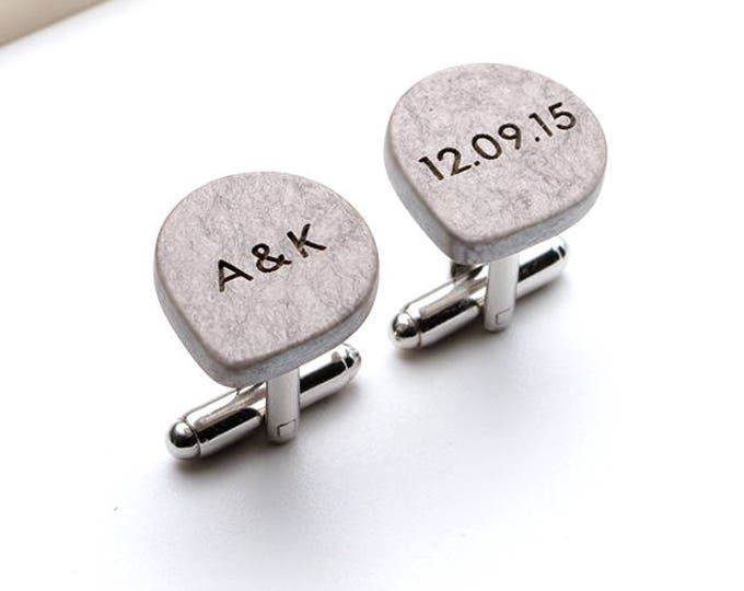 One Year Anniversary Gift for Men, 1 Year Anniversary Gift for Husband, Personalized Paper Cufflinks