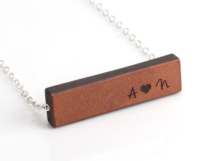Leather Necklace, Anniversary Necklace, Leather Jewelry for Women, Personalized, Leather Necklaces for Women