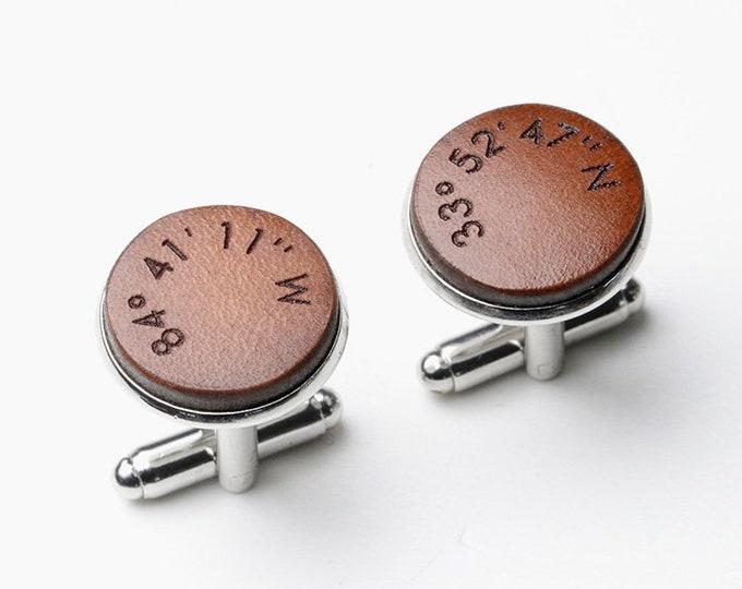 Coordinate Cufflinks, GPS Coordinates Gift, Custom Coordinates, Longitude Cufflinks, Latitude Cufflinks, Coordinates Cufflink, GPS Cufflinks