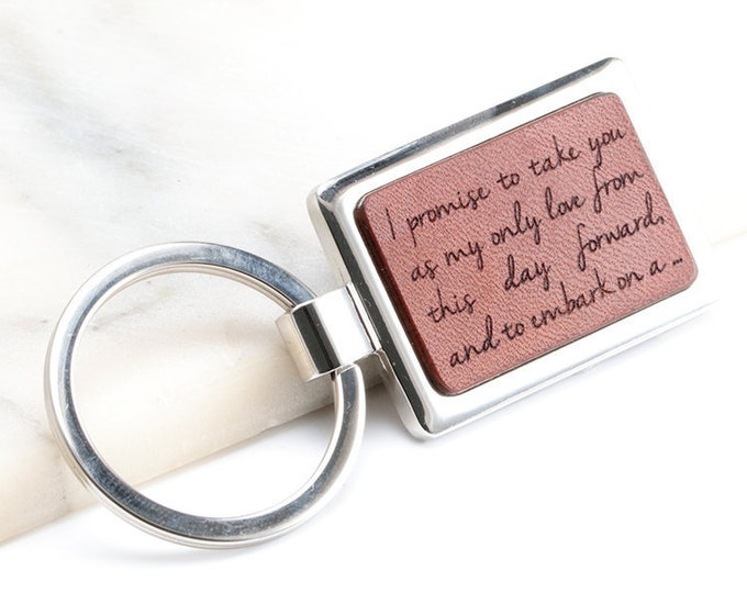 Vows Keychain, Wedding Song Keyring, Custom Vows Keychain, Vows Gift, Key chain with Vows