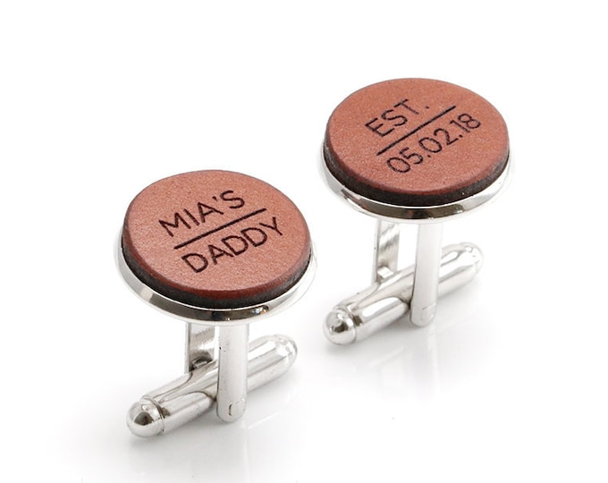 New Dad Gift, New Daddy Cufflinks, New Daddy Gift, Dad Est 2018, Dad Established, First Fathers Day, Fathers Day Gifts, Gift for Dad