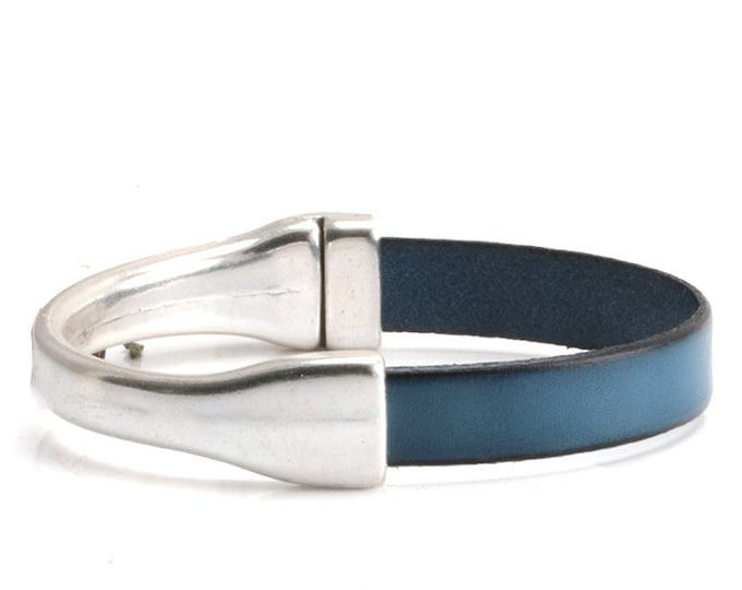 Leather Bracelets for Women, Leather Cuff Bracelets for Women, Leather Bracelet Silver, Bracelets for Women, Boho leather Bracelet