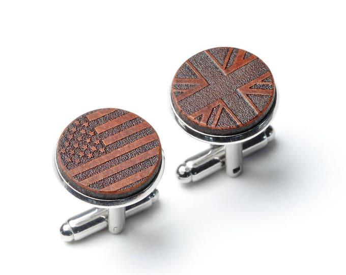 Dual Citizen, Half American, Citizenship Gifts, 4th of July, Naturalization, American flag cufflinks, British, Union Jack Cufflinks, USA