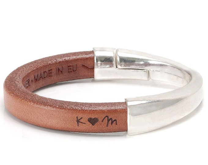 3rd Anniversary gift for her, Third Anniversary, Womens Gift, Anniversary Gift, Personalize, Women Leather Bracelet, Leather Gift for Women