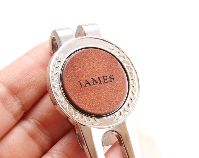 Personalized Golf Ball Marker, Golf Gifts for Men, Personalized Golf Ball Marker & Divot Tool, Golf Accessories, Retirement Gift