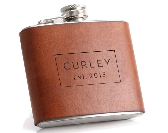 Anniversary Flask, Husband Anniversary, Anniversary Gift For Him, Leather Anniversary for Him, Happy 3rd Anniversary, 3 anniversary
