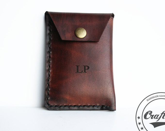 Leather Business Card Holder, Branded Leather, Credit Card Wallet, Card Organizer, Credit Card Case, Third Anniversary, Gift Shops
