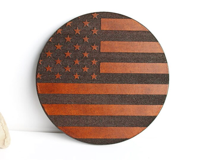 American Flag Coasters, Leather Coasters, Wholesale Coasters, Drink Coasters