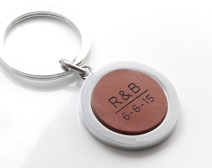 Anniversary Gift, Anniversary Key chain, 9th anniversary gift, 9 year anniversary, Leather Keychain, Couples Keychain, Keychain for Couples