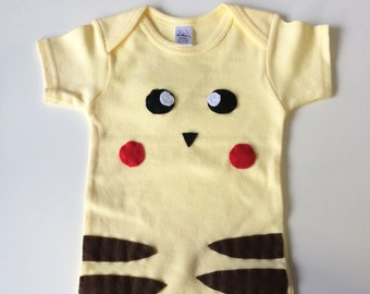 I Choose You Pikachu Baby onesie And Rattle Gift Set