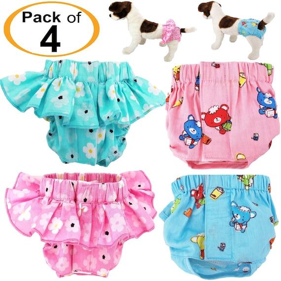 Dog Puppy Diaper Sanitary Pants Skirt Dress COTTON Female Girl For SMALL Pet